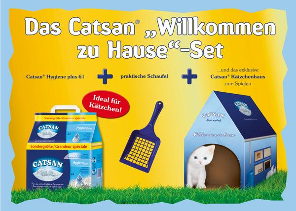 """Das Catsan """"Willkommen zu Hause"""" Set"""